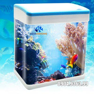 Bể cá mini D06 kích thước 23*15*27cm phù hợp để bàn làm việc