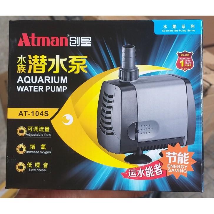 Máy bơm nước bể cá Atman AT 104S lưu lượng 2000l/h