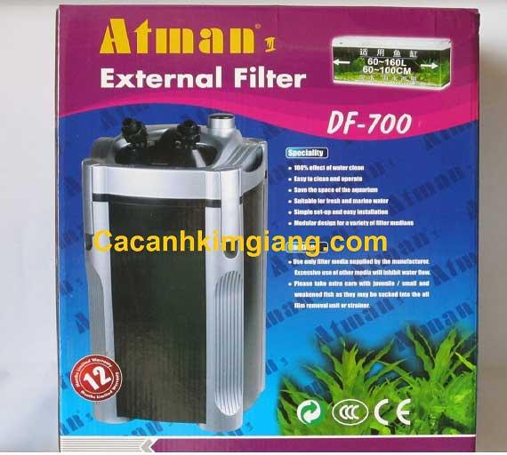 Máy lọc ngoài Atman DF 700 - Hệ thống lọc nước bể cá hiệu quả