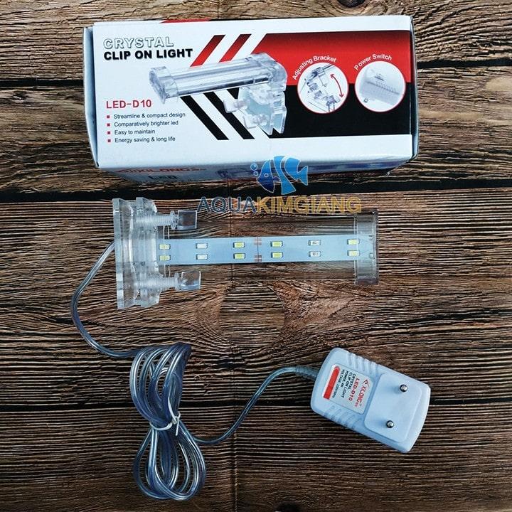 Đèn D10 được sử dụng cho bể kích thước 15-25cm