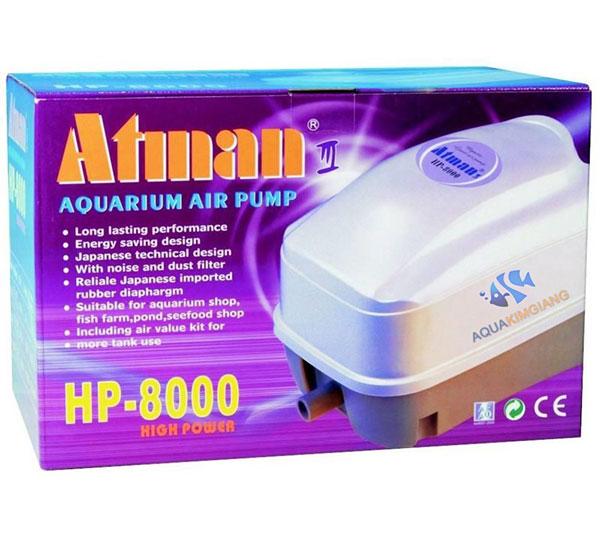 Máy sục khí hồ cá koi Atman HP 8000 công suất 48W