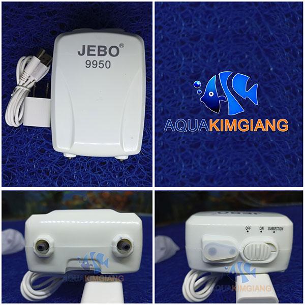 Máy sủi khí 2 vòi tích điện Jebo 9950