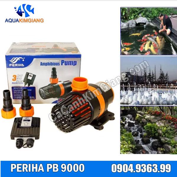 Máy bơm Periha PB 9000 được sử dụng phổ biến cho hồ cá koi, tiểu cảnh...